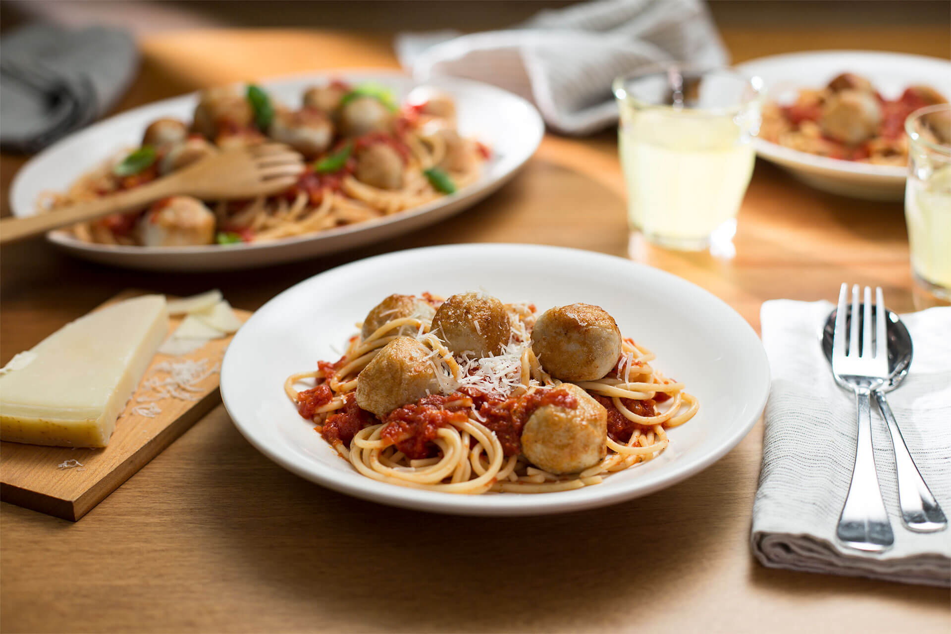 Spaghetti and Pork Meatballs