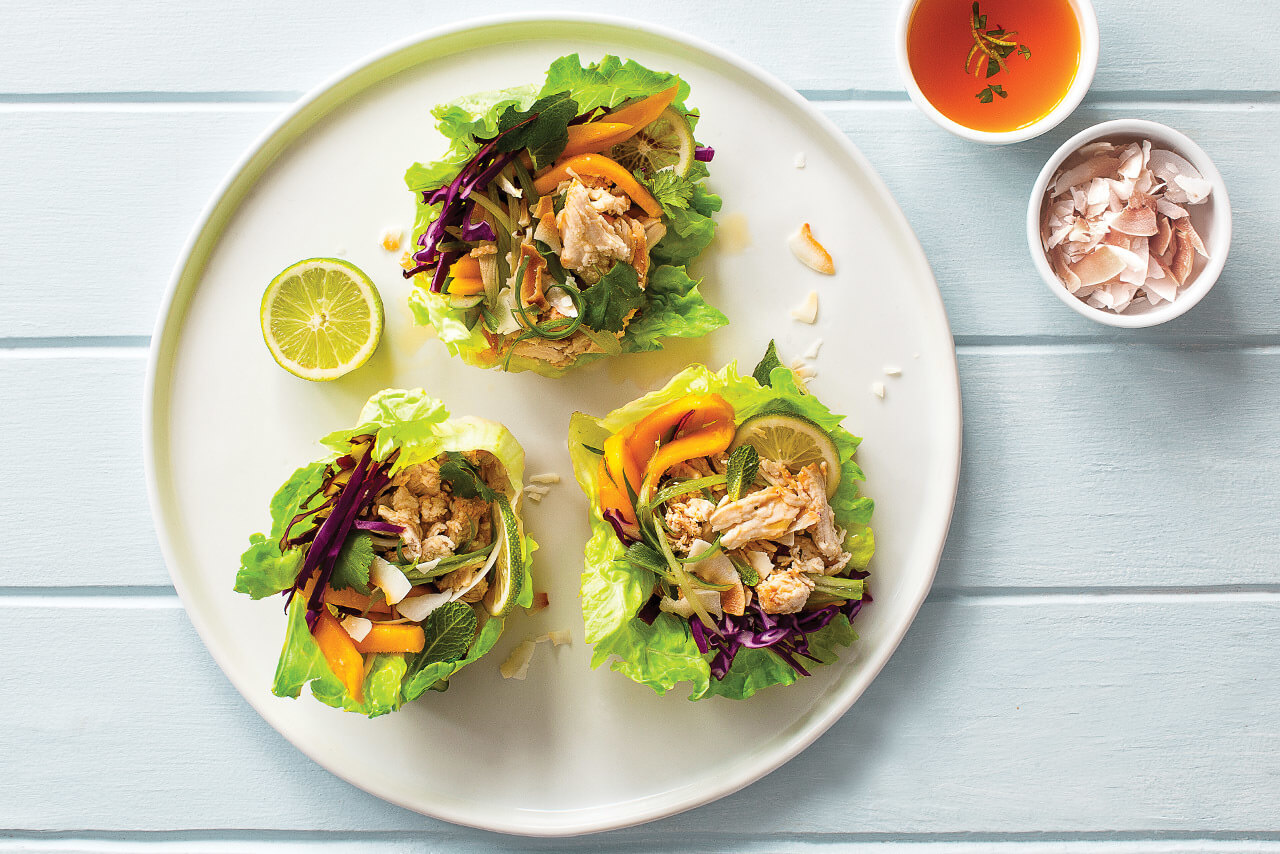 Paradise Chicken Lettuce Cups
