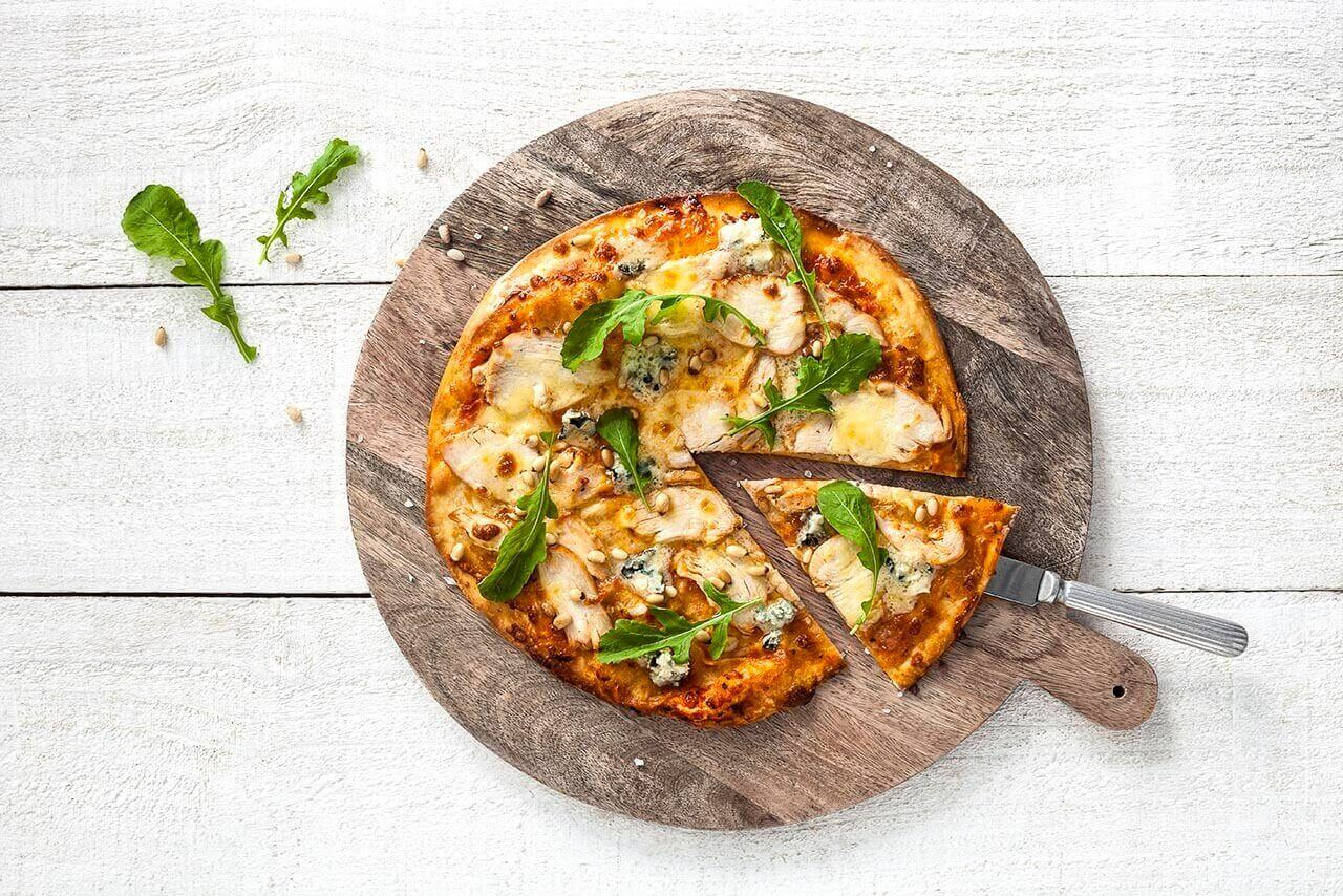 Chicken, Rocket and Blue Cheese Pizza