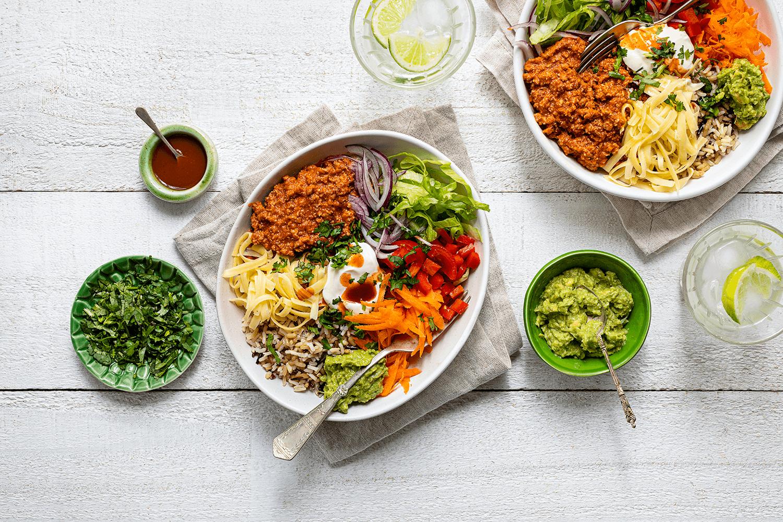 Mexican Mince Burrito Bowls