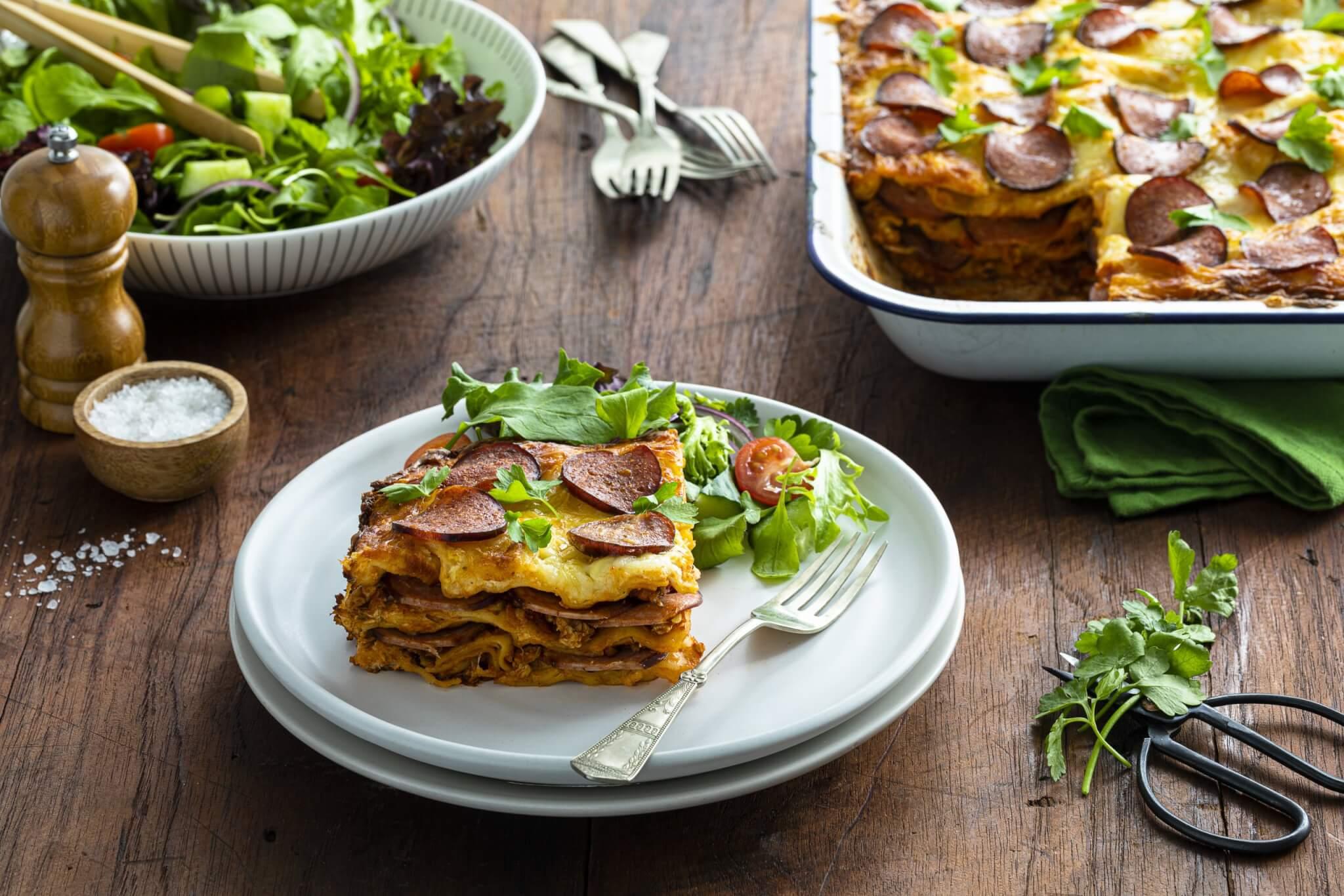 Chicken Pepperoni Lasagne